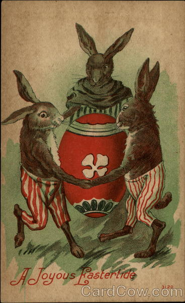 A Joyous Eastertide - Dancing Rabbits With Bunnies