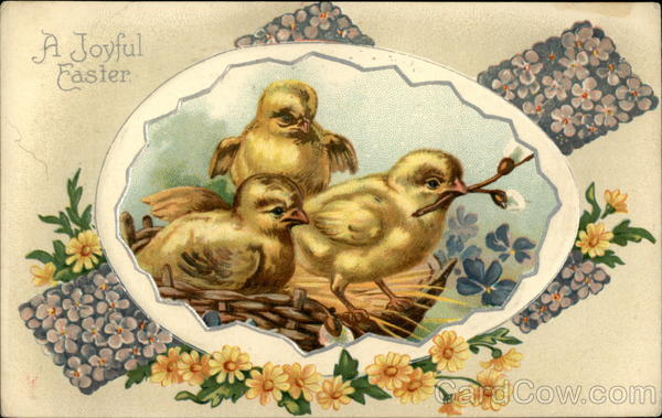 A Joyful Easter - Three Chicks With Chicks