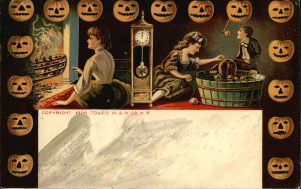 Halloween Party with Bobbing for Apples and Jackolanterns