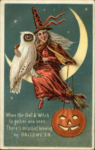 When the Owl & Witch to gether are seen Halloween