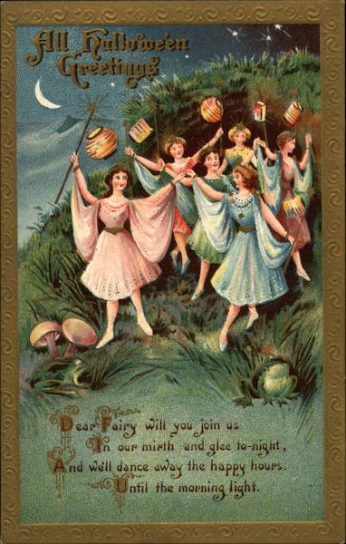All Halloween Greetings - Ladies with Lanterns