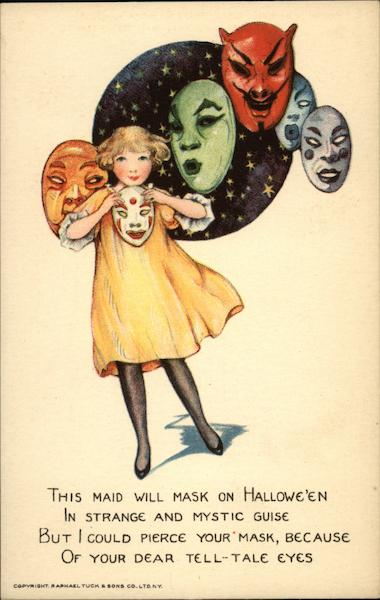 A girl with many faces Samuel L. Schmucker Halloween