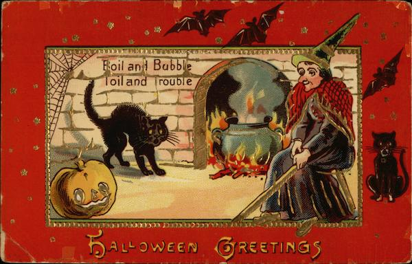 Boil and Bubble, Toil and Trouble - Halloween Greetings