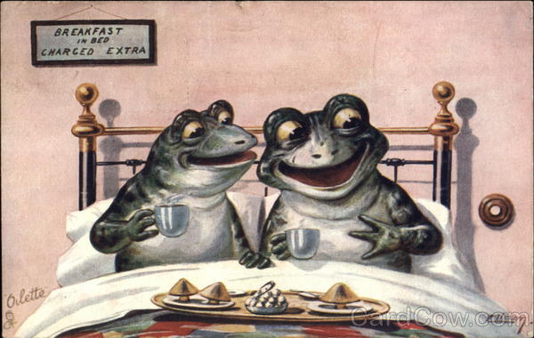 Breakfast in Bed William Henry Ellam Frogs