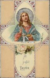 A Joyful Easter - Jesus and a Lacy Cross