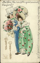Easter Greetings - Couple Dressed in Easter Finery