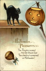 Halloween Pleasures - Black Cat and Jack-o-lantern