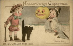 Halloween Greetings - Oh, I'll Wallop This One
