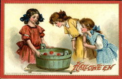 Halloween Girls Bobbing Apples