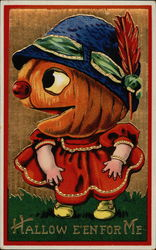 Hallow E'en for Me - Little Girl With Pumpkin Head