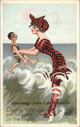 Daring Hold-Ups Are Frequent on the Beach Postcard