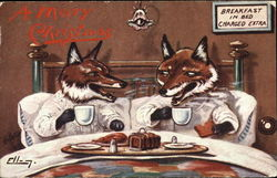 Breakfast in Bed with Foxes