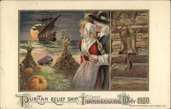 Puritan Relief Ship, Thanksgiving Day 1620