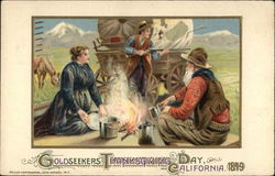 Goldseekers Thanksgiving Day California 1849