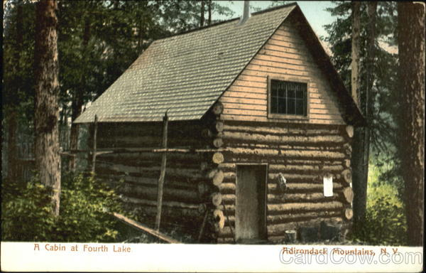 A Cabin At Fourth Lake Adirondack Mountains New York