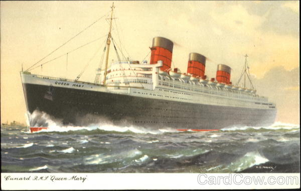 Cunard R. M. S. Queen Mary Boats, Ships
