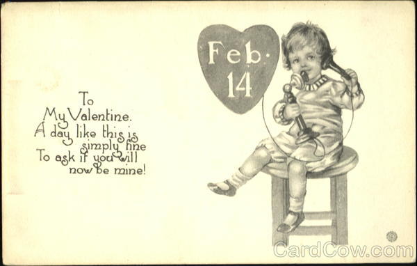 Valentine Card Greeting Romance & Love