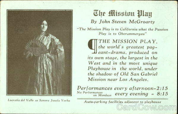 The Mission Play Advertising