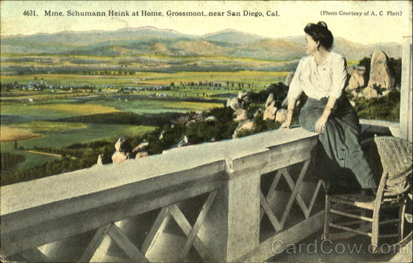 Mme Schumann Heink At Home San Diego California
