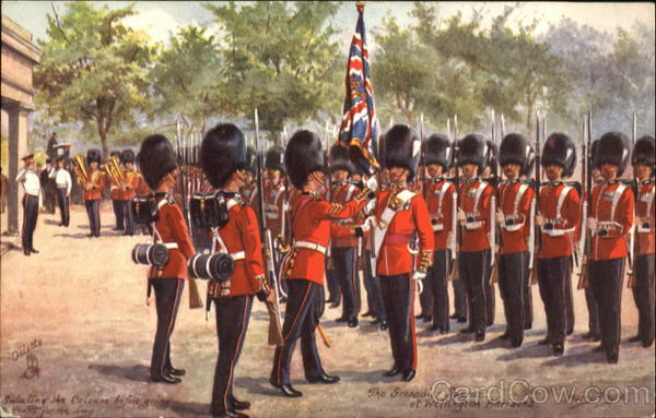 The Grenadier Guards Of Wellington Barracks London England
