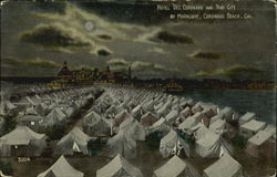 Hotel Del Coronado And Tent City By Moonlight