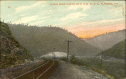 Horse Shoe Curve On P. & N. W. R. R