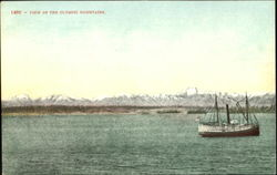 View Of The Olympic Mountains Postcard