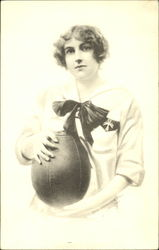 Woman, with medicine ball