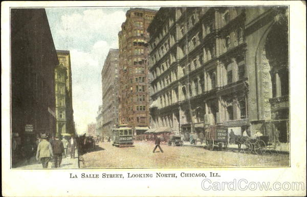 La Salle Street Looking North Chicago Illinois