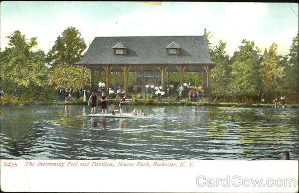 The Swimming Pool And Pavilion, Seneca park Rochester New York
