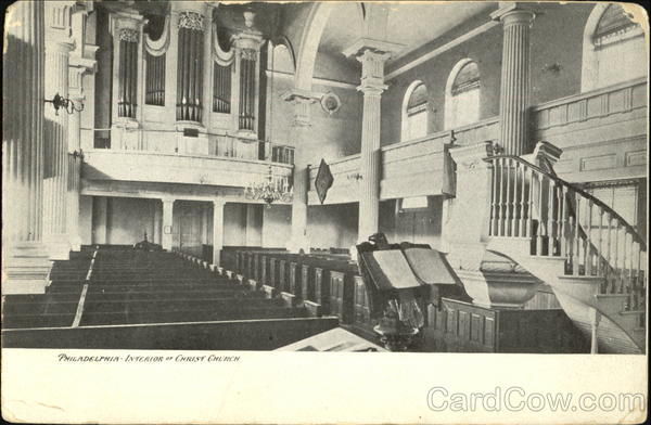 Interior Of Christ Church Philadelphia Pennsylvania