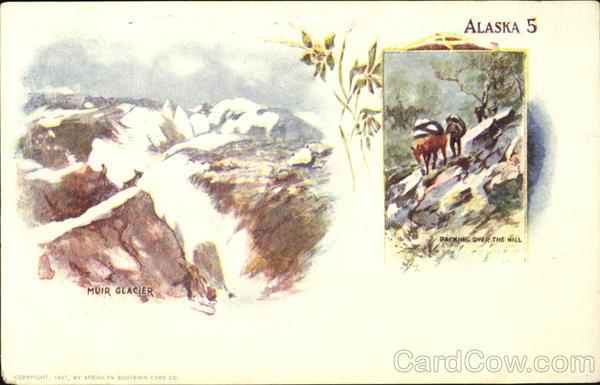 Muir Glacier Packing Over The Hill Alaska