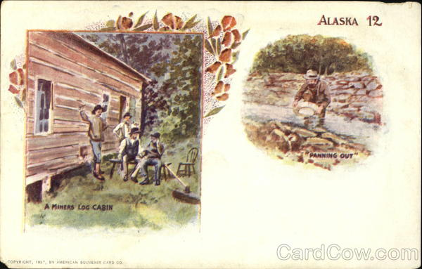A Miners Log Cabin Panning Out Alaska