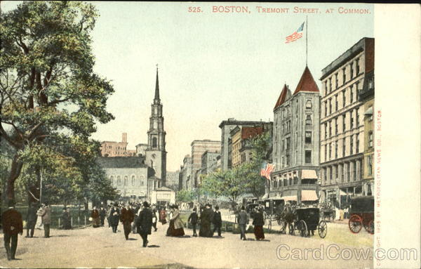 Tremont Street At Common Boston Massachusetts
