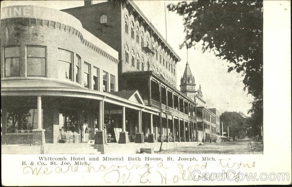 Whitecomb hotel and mineral bath house st joseph mi for Bath house michigan