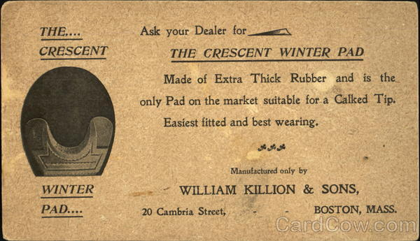 Crescent Winter Pad Advertising