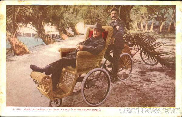 Joseph Jefferson In His Bicycle Chair Bicycles