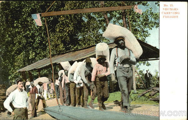 Negroes Carrying Freight Black Americana