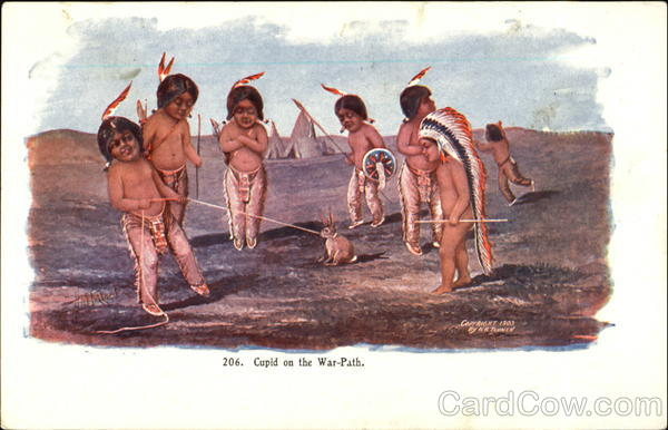 Cupid On The War-Path Native Americana