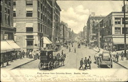 First Avenue From Columbia Street Postcard