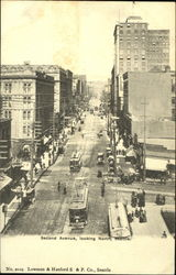 Second Avenue Looking North Postcard