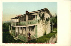 First U. S. Post Office West Of Rocky Mountains In Shiveley's Postcard