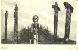 Totems At Wrangell