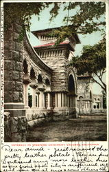 Entrance To Stanford University Grounds Postcard