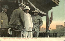President Roosevelt Passing Through The Canal Zone