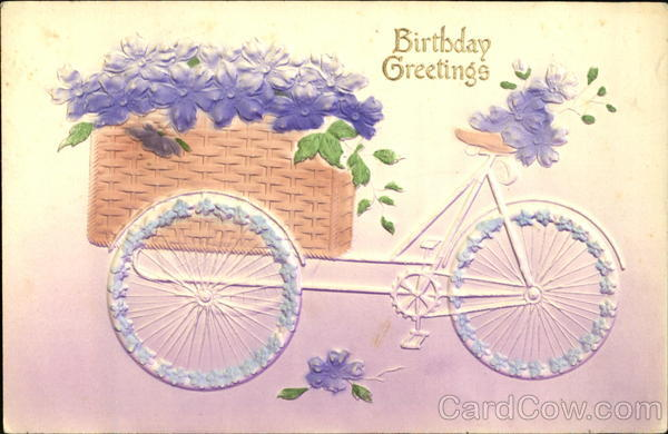 Birthday Greetings Bicycles