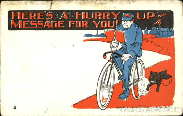 Here's A Hurry Up Message For You! Bicycles