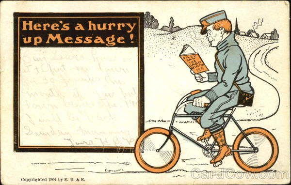 Here's A Hurry Up Message! Bicycles