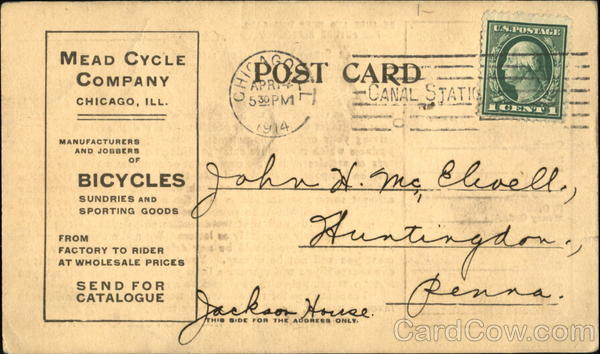Mead Cycle Company Chicago Illinois Bicycles Advertising