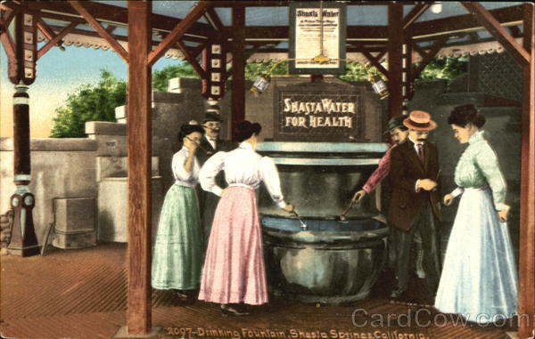 Drinking Fountain Shasta Springs California